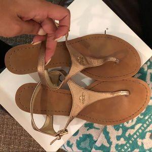 Gold/Tan Sandals